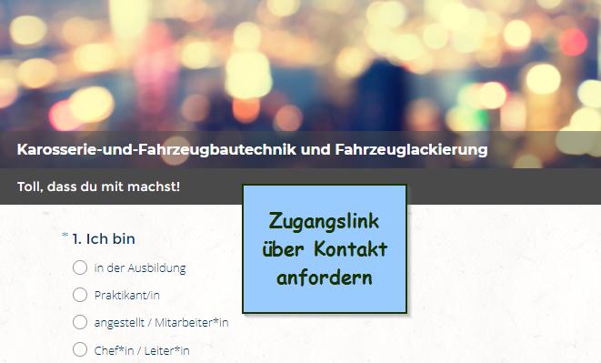 Jetzt teilnehmen: Umfrage für Azubi's und Personen im KFZ-Handwerk (Karosserie- und Fahrzeugbaumechaniker*in, Fahrzeuglackierer*in)